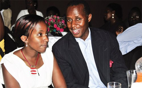 Prince David Kintu Wasajja and his wife at an event recently. Police has quized the Prince on the lake Victoria boat cruise accident (FILE PHOTO)