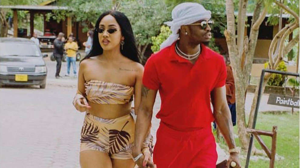 Tanzanian musician Diamond Platnumz with his Kenyan girlfriend Tanasha Donna.