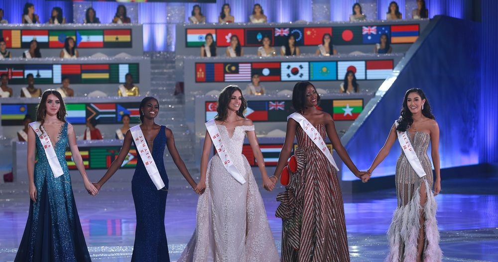 The top 5 Miss World 2018 contestants crown Miss World Continental Queen (MISS WORLD PHOTO)