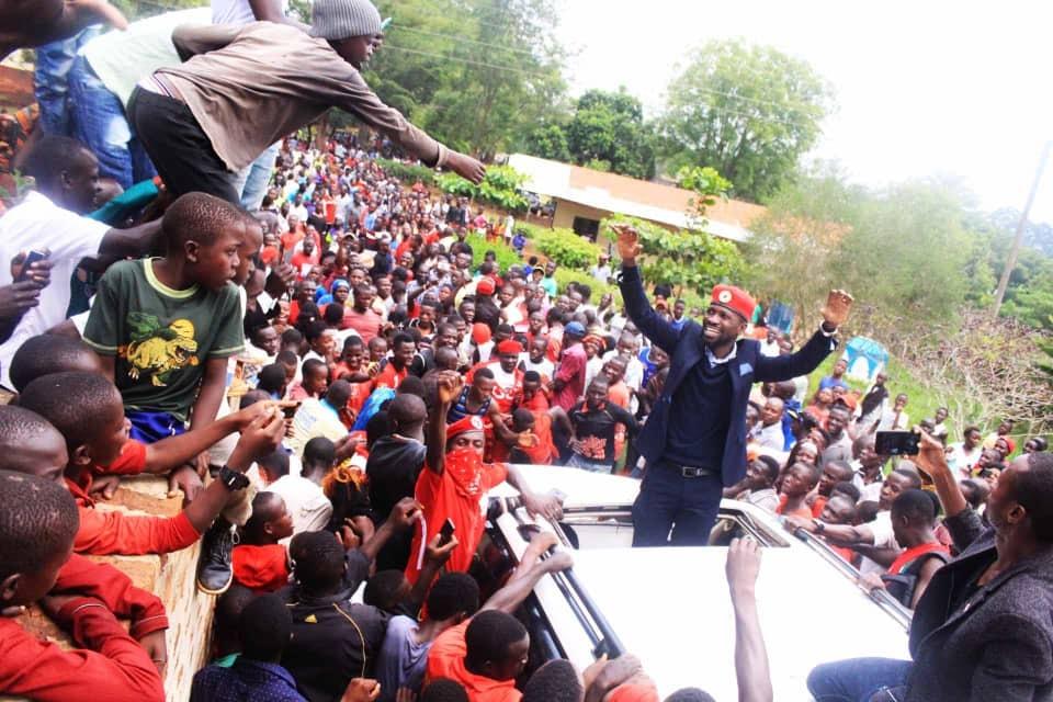 Kyadondo East MP Robert Kyagulanyi alias Bobi arived in Kay