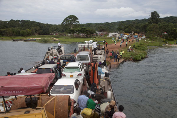 Kalangala ferry just arrives at the pier on Buggala Island. Transport and Ignorance continues to stand in the way of the realisation of Kalangala's tourism potential (FILE PHOTO)