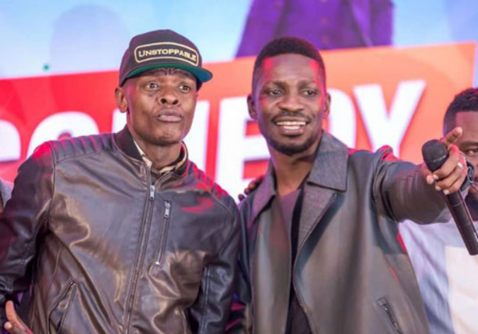 Ugandan artistes Chameleone and Bobi Wine respectively. (FILE PHOTO)