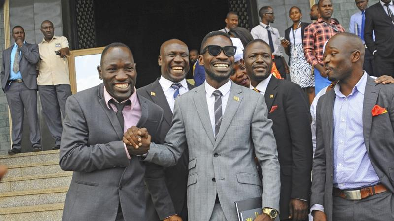 MPs have slammed the government for blocking Kyadondo East MP Robert Kyagulanyi alias Bobi Wine's concerts citng that the govt is scared of People Power (FILE PHOTO)