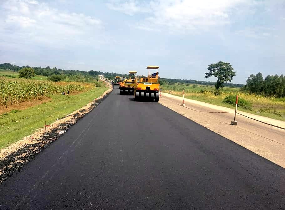 The good progress on the rehabilitation of Tirinyi-Nakalama-Mbale road excites road users in the eastern Region (PML Daily PHOTO)