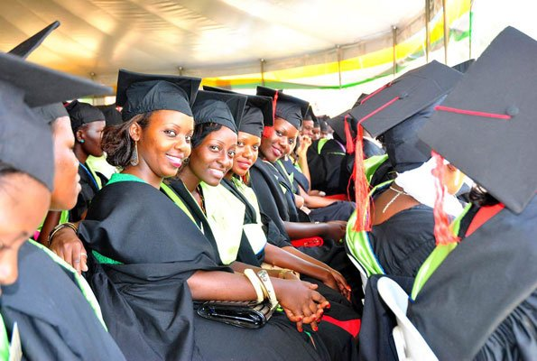 Kyambogo graduands await commissioning as the graduation procession led by KYU Chancellor, Prof. Elly Katunguka exercised its mandate at the 15th graduation ceremony Wednesday December 12 2018 (PML Daily PHOTO)