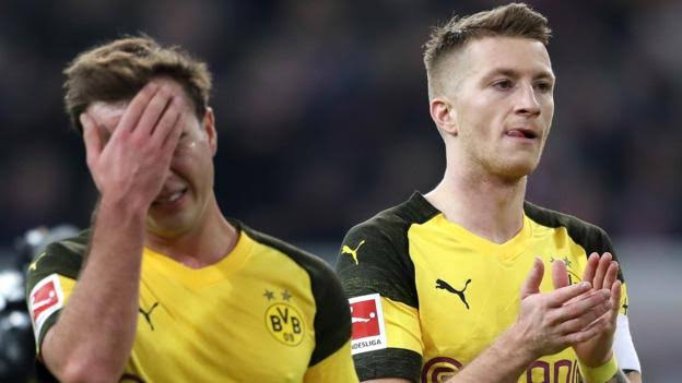 Dortmund lost 2-1 to Dusseldorf on Tuesday (Photo by Agency)
