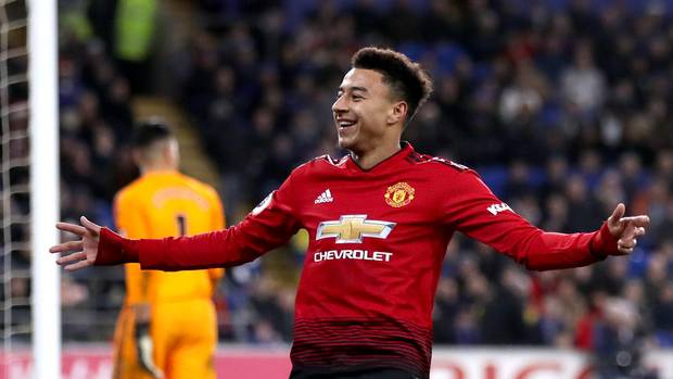 Lingard scored twice and assisted one goal as United defeated Cardiff 5-1 on Saturday (Photo by Agency)