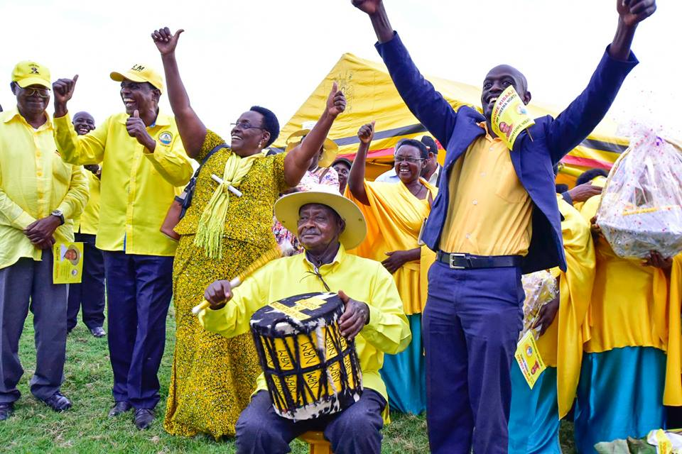 President Museveni campaigns for NRM Candidate, Naome Kibaju in Sheema North by-elections. Ms Kibaju beat FDC's Virginia Mugenyi in the hotly contested Oct 10 election (FILE PHOTO)