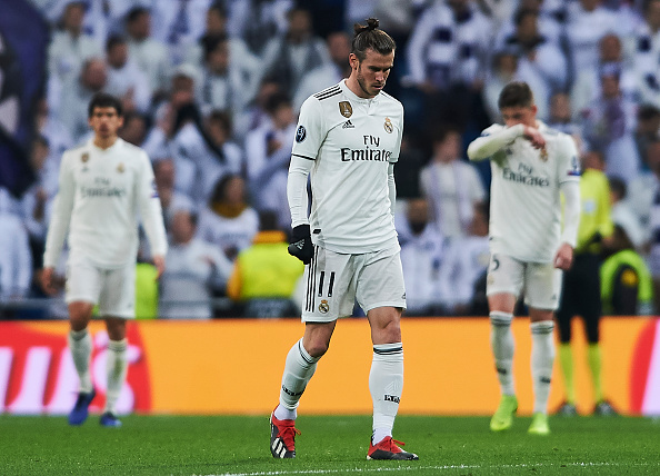 MADRID, SPAIN - DECEMBER 12: Gareth Bale of Real Madrid reacts during the UEFA Champions League Group G match between Real Madrid  and CSKA Moscow at Bernabeu on December 12, 2018 in Madrid, Spain. (Photo by Quality Sport Images/Getty Images)