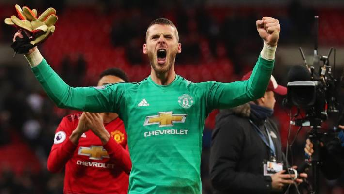 De Gea made 11 saves against Spurs on Sunday (Photo by Agency)