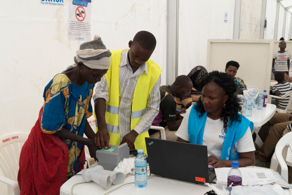 UNHCR and OPM carry out a bio-metric verification of beneficiaries. They have launched communication