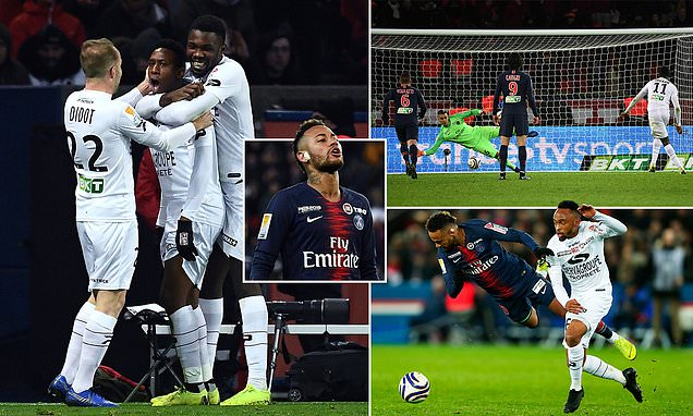 Guingamp eliminated PSG from the League Cup (Photo by Agency)