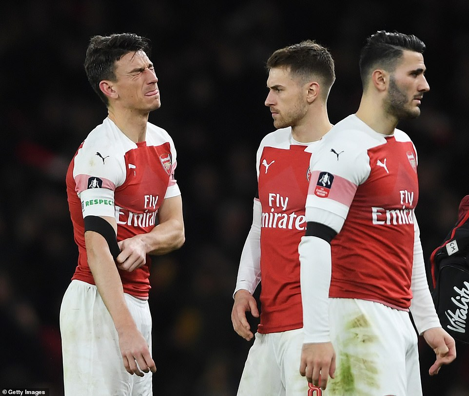Arsenal lost 3-1 to Man United in the FA Cup last Friday (Agency Photo)