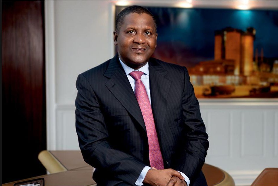 Great wealth. Mr Aliko Dangote has been, once again, named Africa's richest person. This is the 8th year he is in this position. (LEGIT PHOTO)