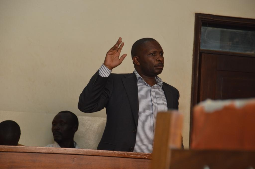 Councilor Imam Kagiko in the court room on Monday afternoon