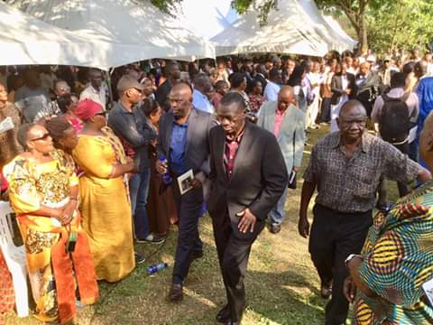 Lt. Col Dr. Kiiza Besigye, former FDC president arriving at the burial of late
