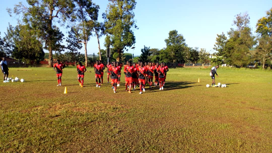 The Hippos during Saturday morning session at Kirinya JSS Cricket Oval (Photo by FUFA Media)
