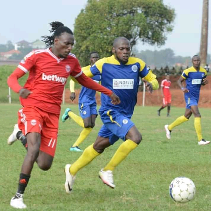 Michael in action against Ndejje University earlier this season (file photo)