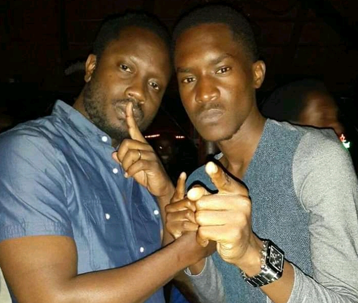 Musicians Bebe Cool and A Pass first picture they took in 2014. (FILE PHOTO)
