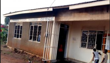 Offices of Buganda Land Board which were burnt on Tuesday Morning