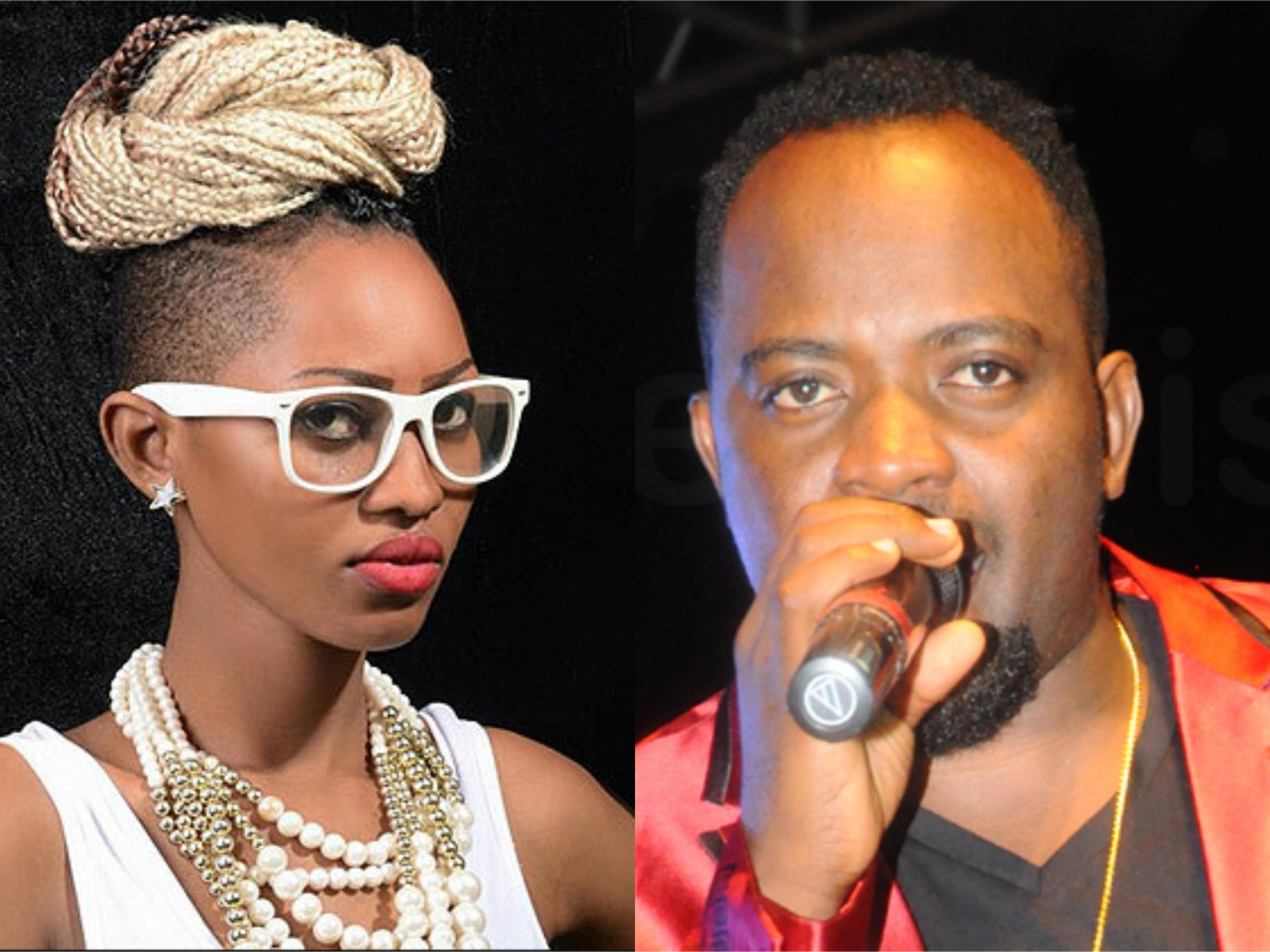 Uganda musiscians Spice Dianah and David Lutalo will live in concerts on the same day and same city. (PML Daily Collage Photo)