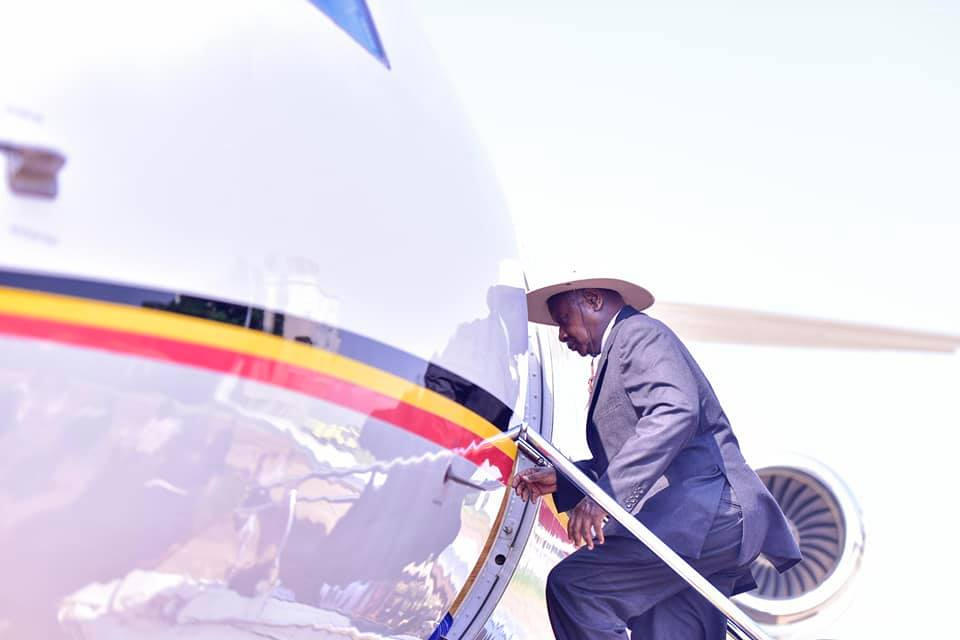 President Museveni jetting off to
