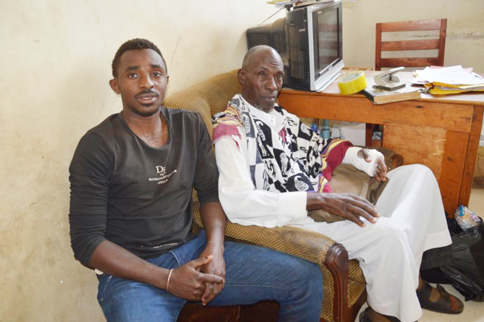 Father of the Self-proclaimed King of Ankole Umar Asiimwe, Idrisa Kaweesa and one of his sons identified as Salim Tugume were arrested on Friday January 11 (FILE PHOTO)