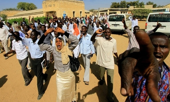 Sudan protesters. Several have been arrested. (FILE PHOTO)