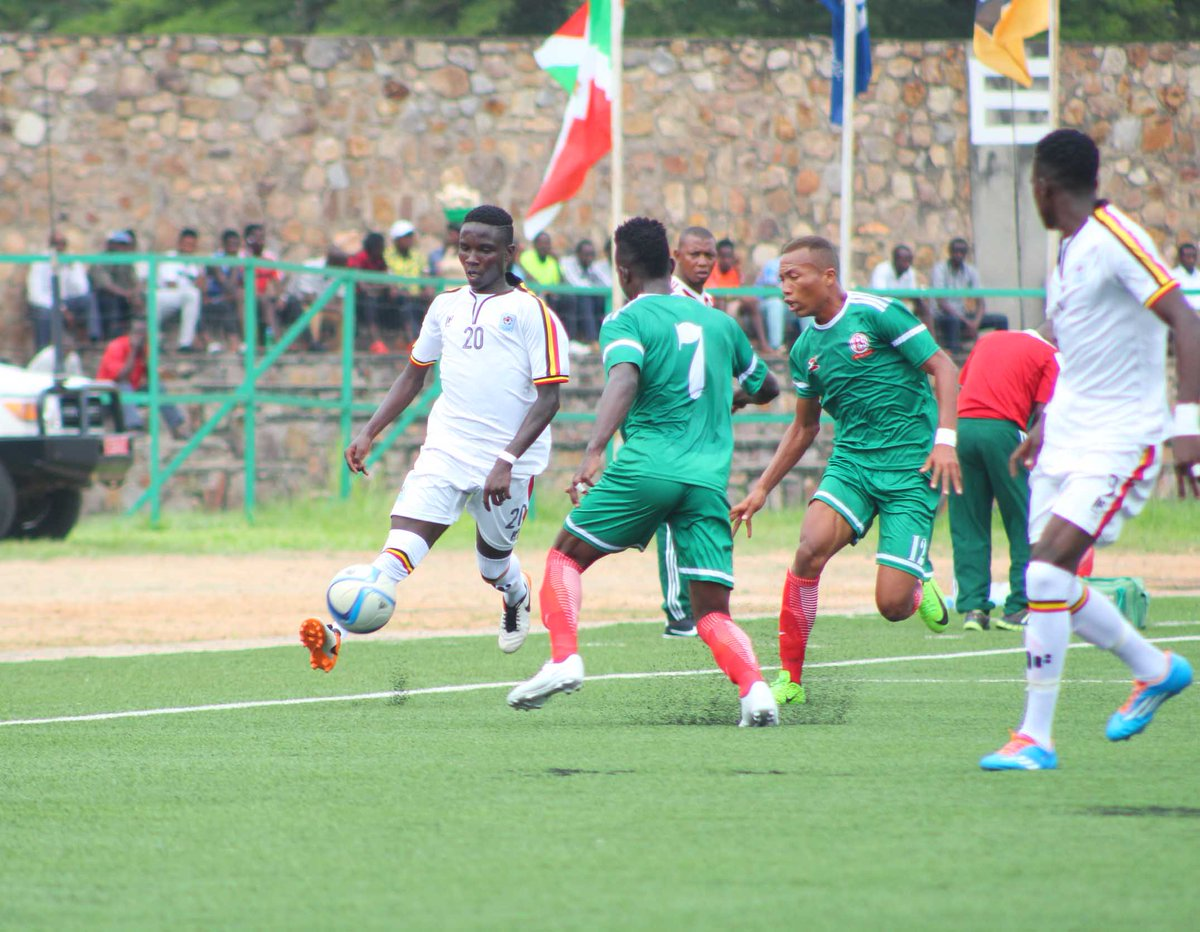 The Cubs (white) are preparing for the 2019 AFCON Finals in Tanzania (Photo by FUFA Media)