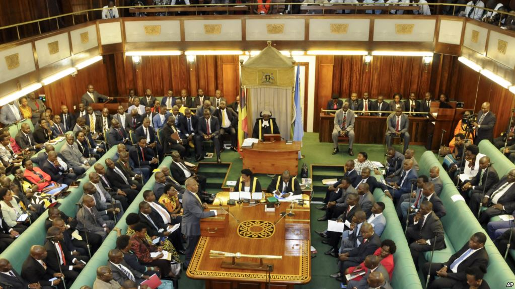Ugandan Parliament in session recently. Legislators are set to discuss the Electoral reforms tabled by the Attorney General in Parliament Wednesday July 31. (PHOTO/File)