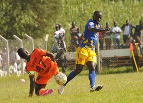 Mutyaba (right) was the only KCCA FC player to convert his penalty against Tooro (Photo by KCCA FC Media)