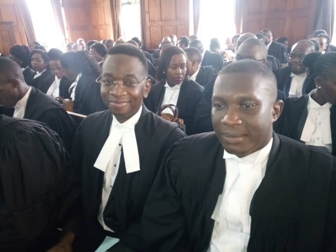 Ugandan musician Sylver Kyagulanyi among 148 lawyers who graduated from the Law Development Centre (LDC) and enrolled at High Court in Kampala (PML Daily PHOTO)