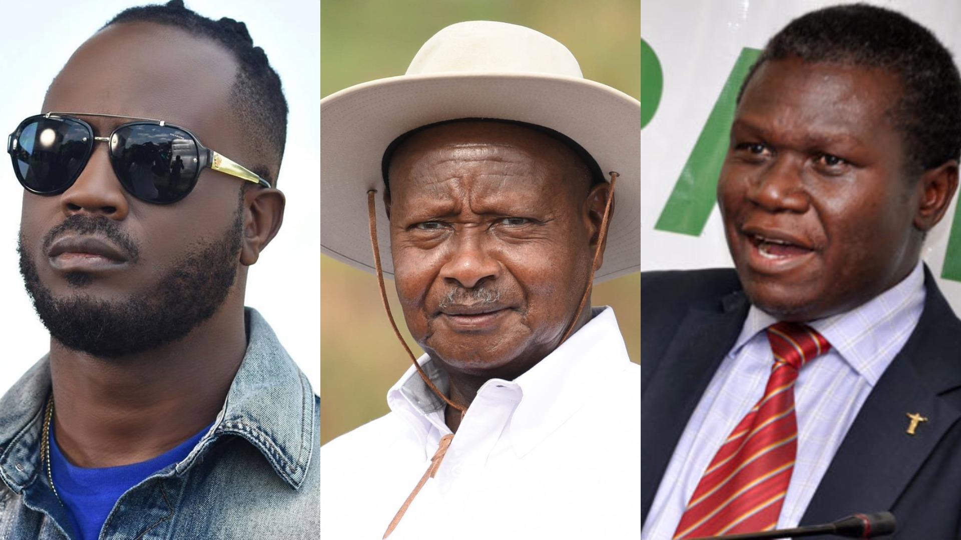 DP Party President, Norbert Mao, on a recent talkshow, has cautioned artiste Moses Sali alias Bebe Cool to be careful citing that he will be sidelined by President Museveni soon; like the others (PML Daily PHOTO MONTAGE)