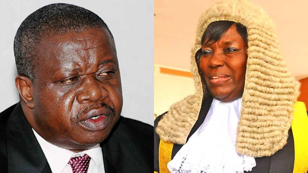 Speaker of Parliament, Rt. Hon. Rebecca Kadaga has given Minister for Justice and Constitutional Affairs, Maj Gen (Rtd) Kahinda Otafiire an ultimatum of 2 months to draft a bill on Electoral reforms (FILE PHOTO)