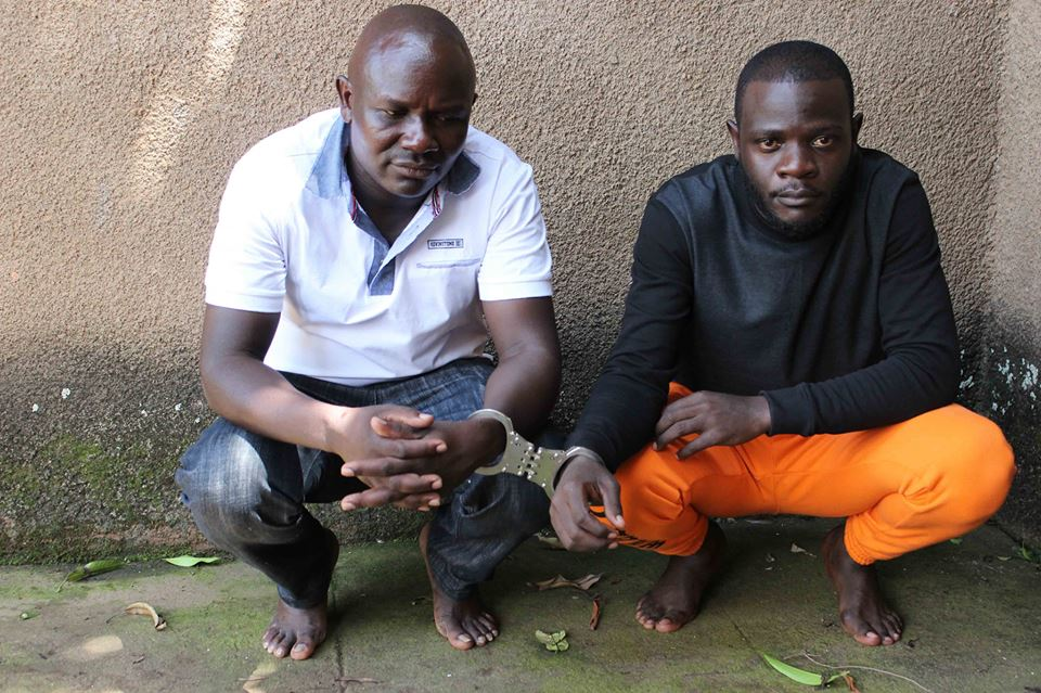 Andrew Sebitosi and Mwima arrested on charged of terrorism. (POLICE PHOTO)
