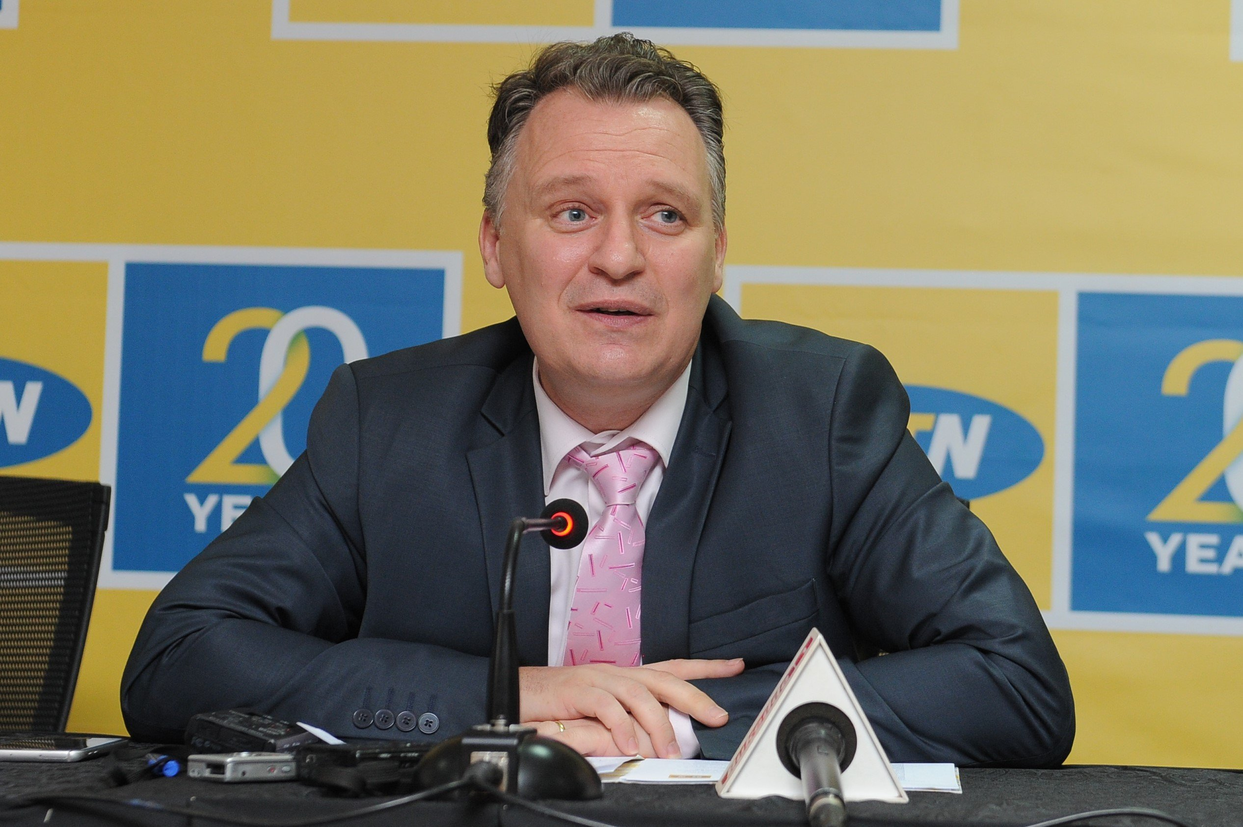 MTN Uganda Chief Executive Officer, Belgian Wim Vanhelleputte was unceremoniously deported in February, 2019 (FILE PHOTO)