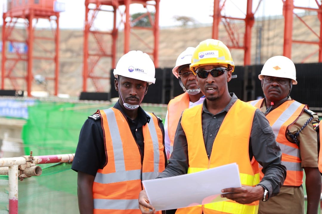 Deputy IGP Maj Gen. Sabiiti Muzeeyi visits the Karuma Dam construction project and affirmed security for the contractor (POLICE PHOTO)
