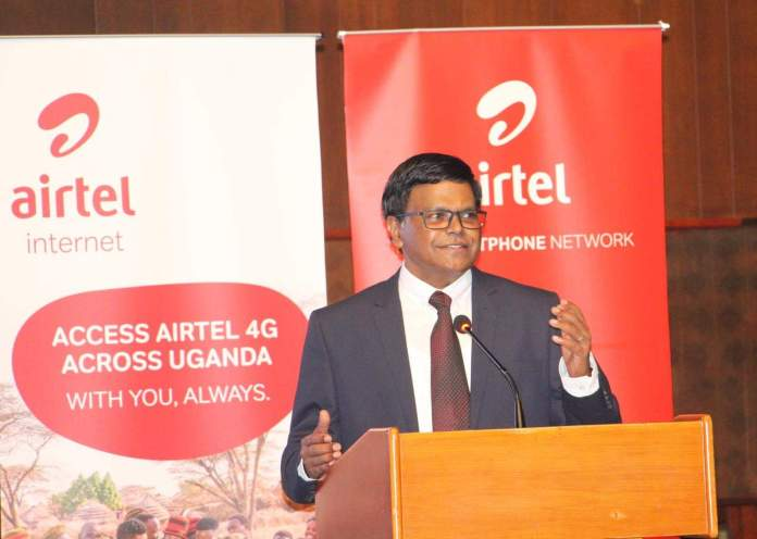 The Managing Director, Airtel Uganda – Mr. V.G. Somasekhar (PHOTO/File)