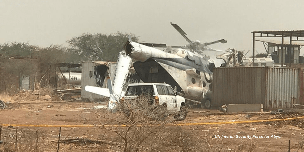 United Nations confirmed in a statement that the MI-8 helicopter was on routine operation carrying Ethiopian troops on rotation from Kadugli to Abyei when it crashed. (FILE PHOTO)