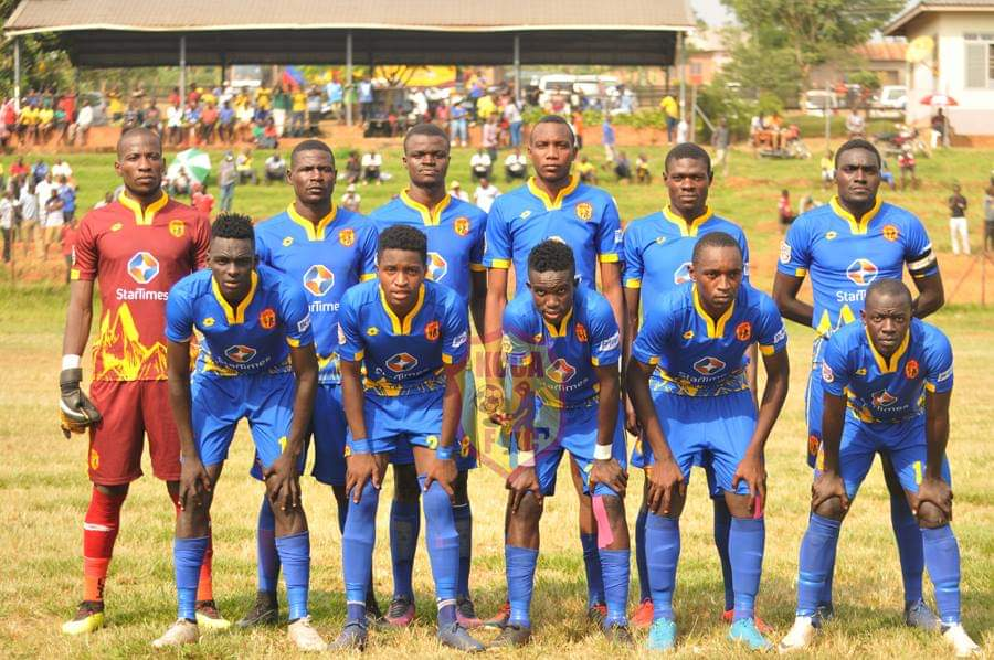 The KCCA FC team that drew 0-0 away to Bright Stars in their last game (photo by KCCA media)