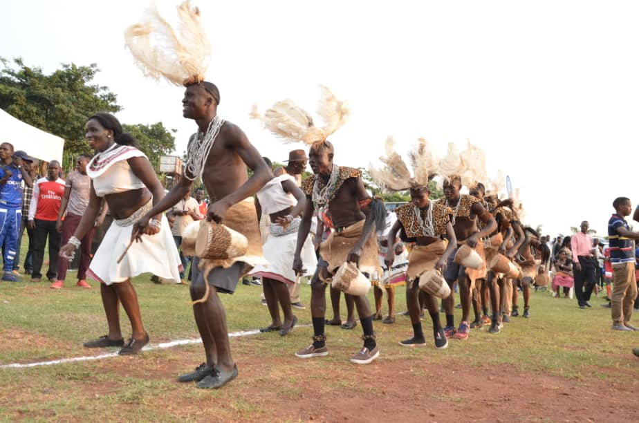 Gulu team performe Bwola dance before the games