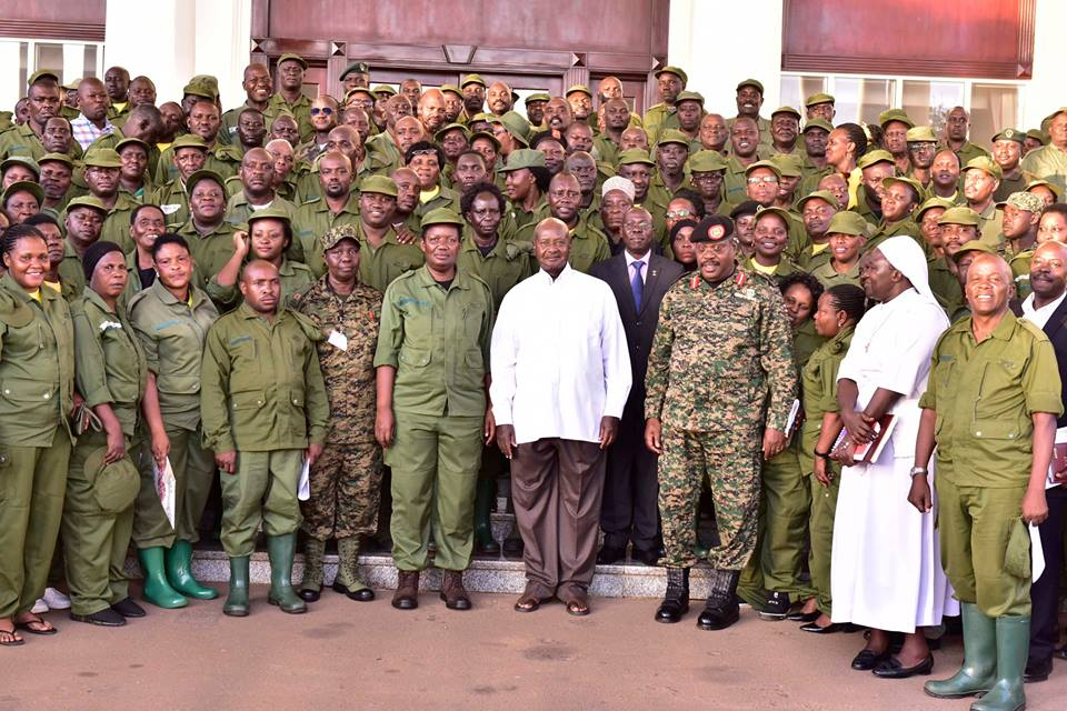 Addressed Resident District Commissioners and their deputies this afternoon at State House, Entebbe