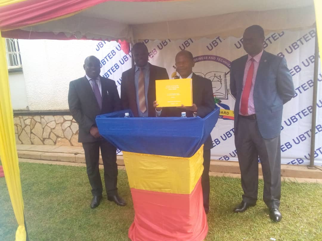 Minister JC Muyingo releasing UBTEB exams