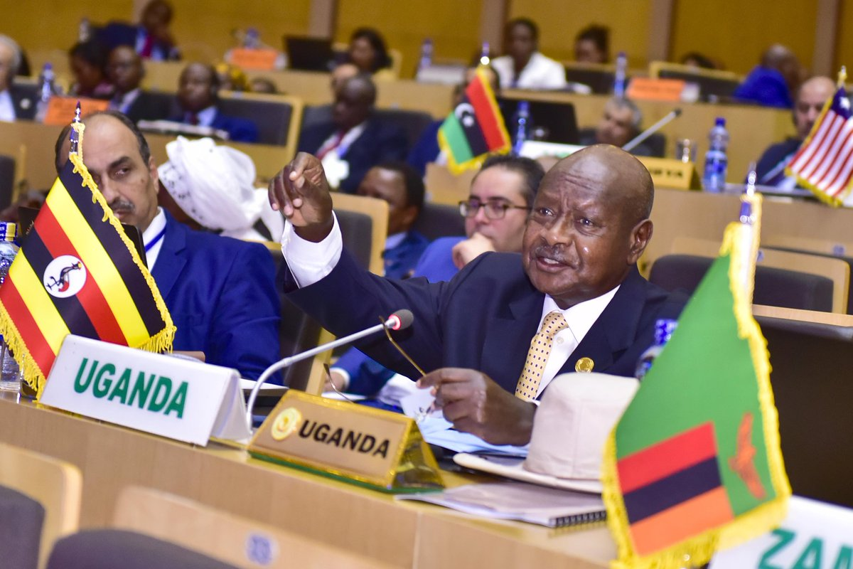 President Museveni delivered a paper at the AU Summit in Addis Ababa, Ethiopia, making a case for Africa's economic and political integration. (PPU HOTO)