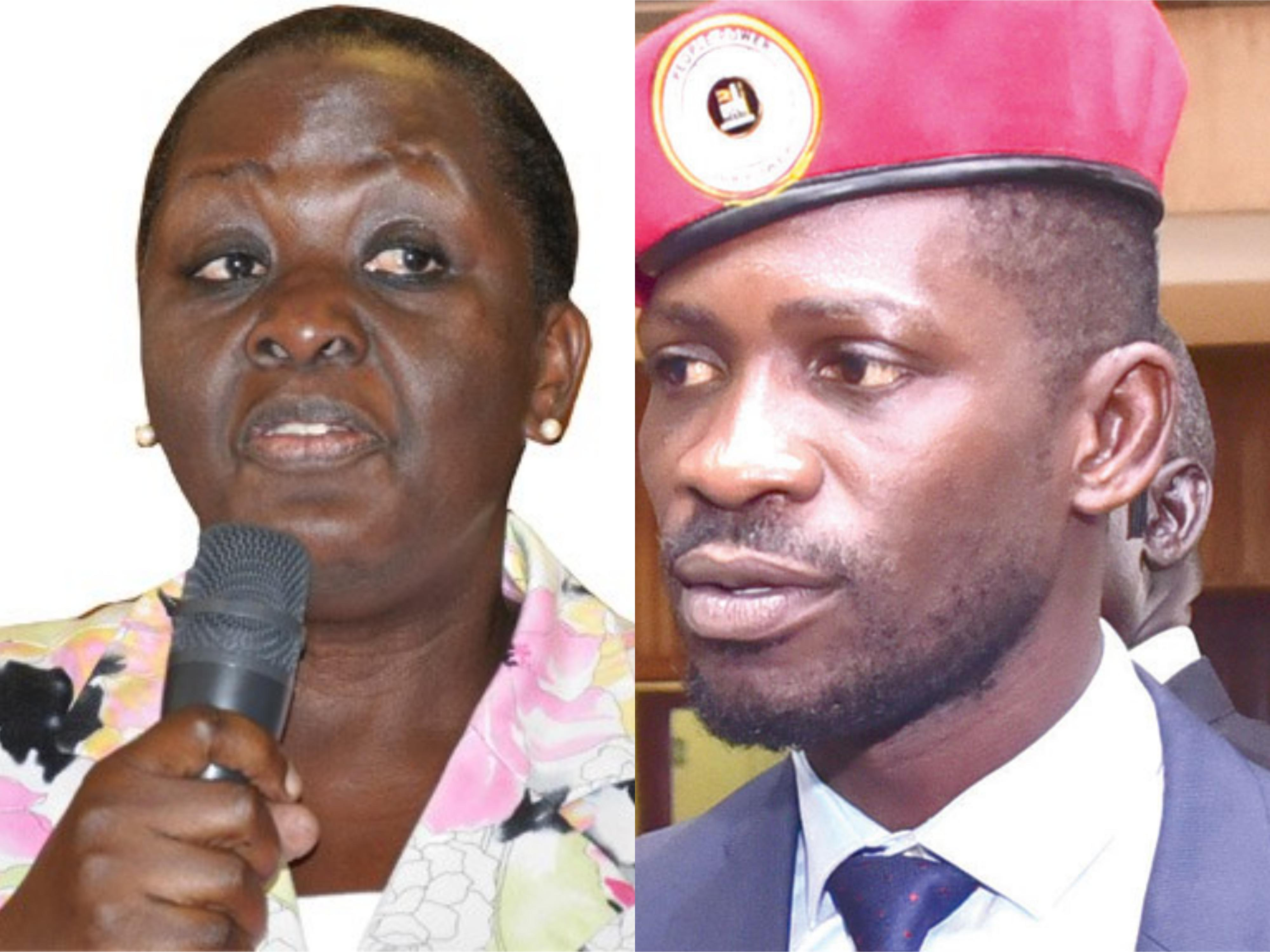 Former  Vice President  Dr  Specioza  Wandera Kazibwe was on Sunday booed by mourners after she claimed that Kyadondo East  Member of Parliament Robert  Kyagulanyi  Ssentamu