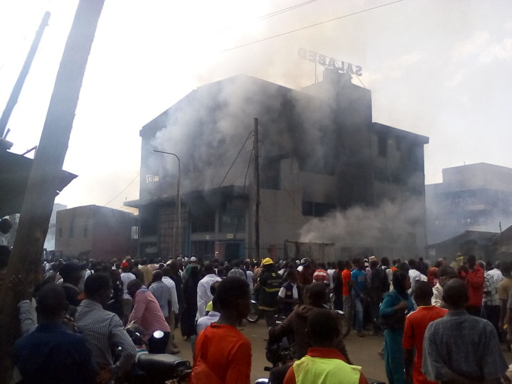 four children perished in a fire that gutted a maize store in Kisenyi