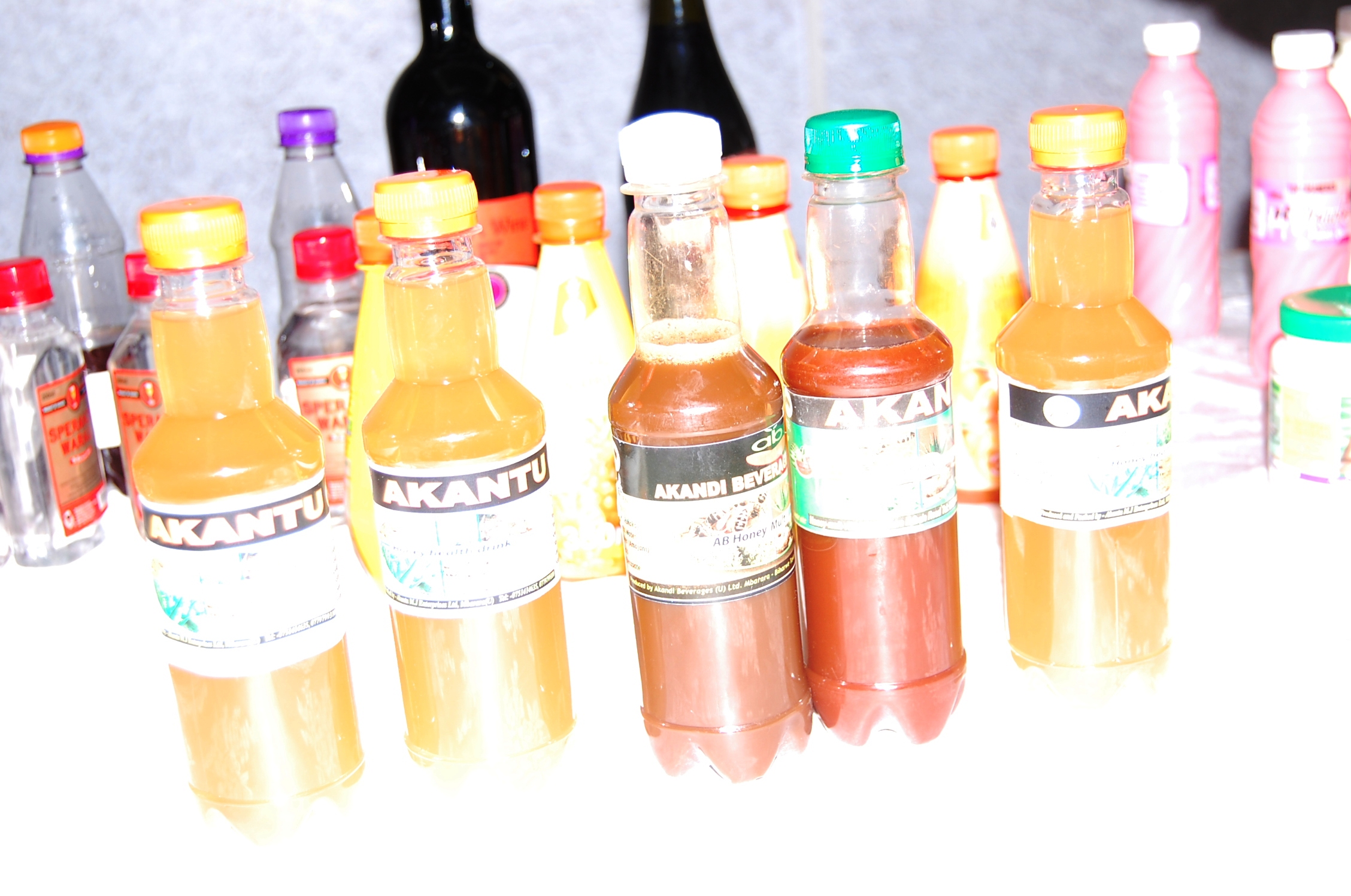 Some of the products that were impounded by then RDC Martha Asimwe mbarara last year (Photo by Bob Aine)