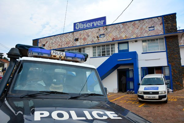 The Observer Newspaper offices which were closed by URA over tax evasion yesterday