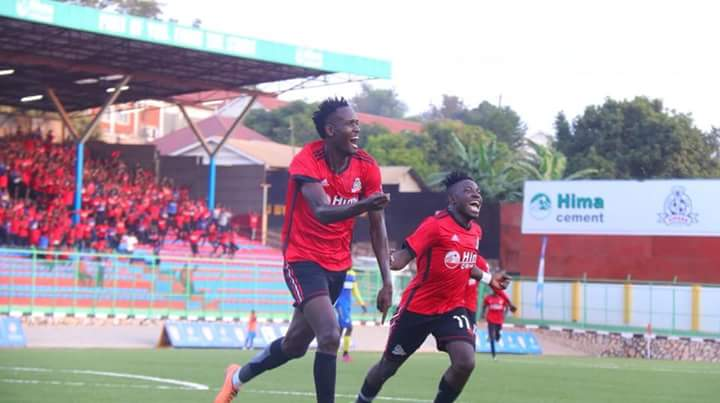 Kasirye (left) scored the only goal as Vipers edged Nyamityobora in the first game (file photo)