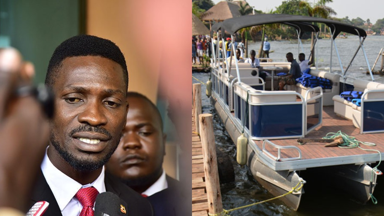 One of Kyadondo East MP Robert Kyagulanyi alias Bobi Wine's boats that URA on which the taxes are being slapped (FILE PHOTO)